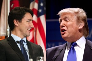 Justin Trudeau and Donald Trump profile images side by side.